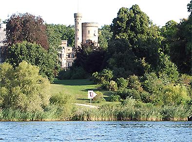 Schloss Babelsberg vom Wasser per Kajak
